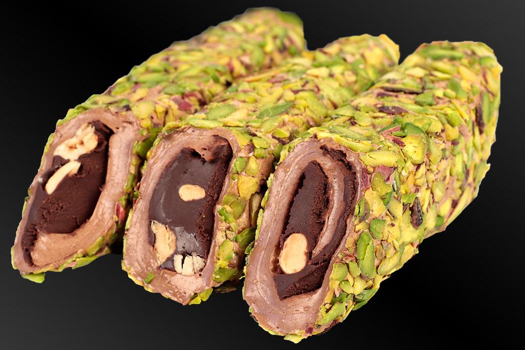 File Fıstıklı Kakao Çikolatalı Fındıklı Sarma