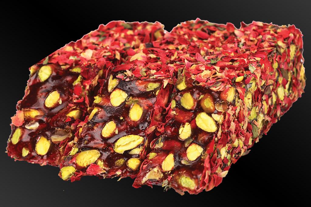 Lüx Gül Yapraklı Narlı Fıstıklı Kesme Fitil